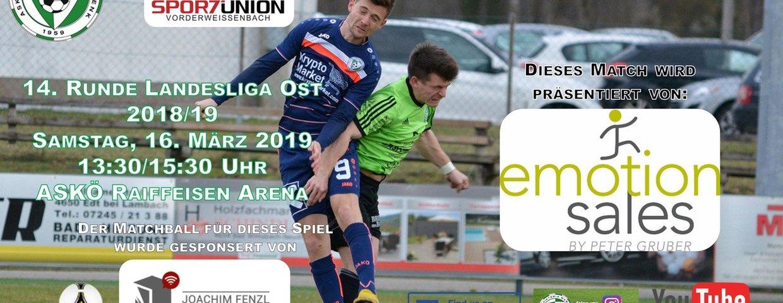 Vorschau auf das Kampfmannschaftsspiel-Spiel gegen Vorderweißenbach!!!