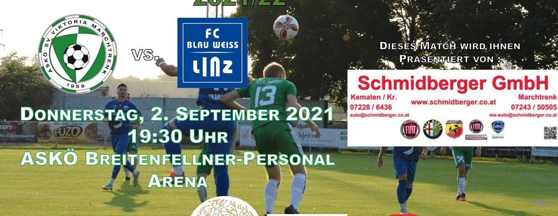 Vorschau auf das KM-Spiel gegen FC Blauweiss Linz Amat. !!!